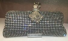 NIB Crystal Evening Bag Clutch Hand Bag made with Swarovski Elements Black