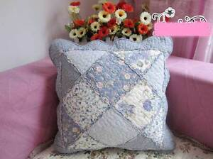 Shabby Frill Quilted Cotton Cushion Cover Pillow Case Sham Patchwork Chair Retro