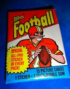 1983 Topps Football Wax Pack as pictured! Gum Intact (NS 8,70)