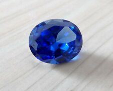 Unheated 7.66ct AAA Blue Sapphire Oval Faceted Cut 10x12mm VVS Loose Gemstone
