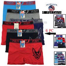 Lot 6 Pack Men Microfiber Boxer Briefs Underwear Compression Stretch Sport Flex