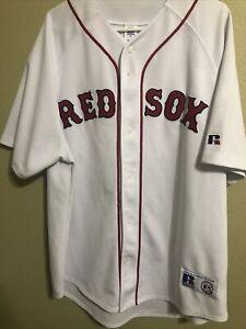 PEDRO MARTINEZ #45 BOSTON RED SOX SEWN RUSSELL MLB JERSEY ADULT SIZE: XXL
