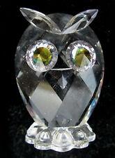 "Swarovski Miniature Crystal Owl Figurine Crystal Eyes 1.5"" tall Woodland Friend"