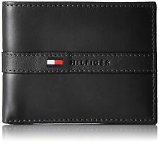 Tommy Hilfiger Men's Ranger Leather Passcase Wallet - Black
