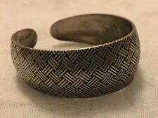 Silver boho style adjustable thick chunky bracelet