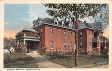 Michigan postcard Saginaw, Woman's Hospital ca 1917