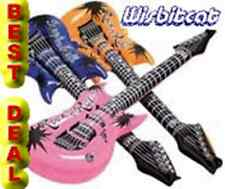 12 Inflatable (Blue, Orange, Pink) Rock N Roll Air Guitars LOT Party Favors 24""