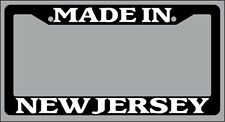 "Black License Plate Frame ""Made in New Jersey"" Auto Accessory Novelty 2403"