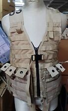 lot - FLC fighting load carrier + 2 x pouch,desert ,GENUINE U.S. MILITARY ISSUE!