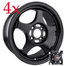 Drag Wheels DR-23 15x6.5 4x100 Flat Bk Rims For Hyundai Tiburon Sonata Elantra