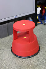 Stable Stool The Sturdy Plastic Step Stool with Locking Casters in Red Model 961