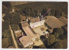 CPSM 33570 LUSSAC Château de Roques vue aérienne