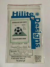 Hilite Designs Counted Cross Stitch Kit Sports Soccer #508 Personalized Series