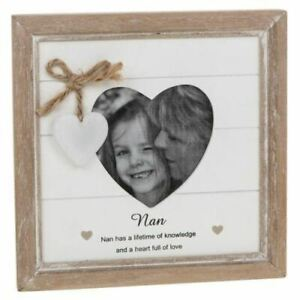 Provence Nun Heart Frame Hanging Shabby Wooden Photo Distressed Sentiment