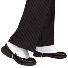White Adults Spats Shoe Covers - Fancy Dress Gangster 1920s Accessory Costume
