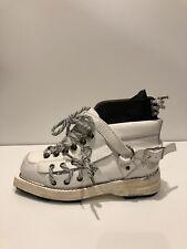 Acne Studios New $1,250 Heidi High Top White Leather Boots (Size: 35EU/5US)