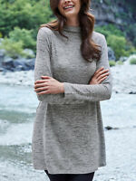 New Cellbes GREY Knitted High Neck Long Sleeve Tunic - Plus Size 16/18 to 24/26