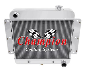 3 Row BC Champion Radiator for 1962 - 1967 Chevrolet Chevy II Nova V8 Conversion