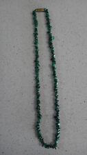 Green Natural Malachite Gemstone Chips Necklace