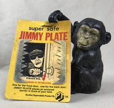 Super Safe JIMMY PLATE Vintage 1971 Lock Reinforcer Armoured Barrier for Door