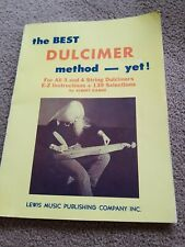 Vintage 1974 The Best Dulcimer Method Yet By Albert Gamse Song Book Lessons