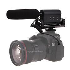 Pro Shotgun DV Stereo Video Camera Microphone Mic for DSLR Interview Recording