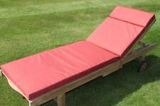 Garden Furniture Cushion- Cushion for Garden Lounger Chair in Terracotta