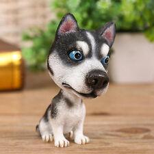 Bobblehead  Siberian Husky Dog Figurine Bobbing Doll Nodding Car Interior Decor