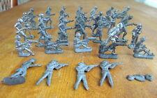 """Lot of 30 vintage lead metal WWI soldiers 2"""""""