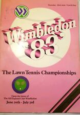 WIMBLEDON 1983 Lawn TENNIS CHAMPIONSHIPS Vintage Program ALL ENGLAND CLUB Ads