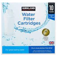 Kirkland Signature Water Filter Cartridges 10 PK White NEW SEALED OPEN BOX