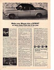 1963 CHEVROLET CORVAIR SPRINT BY JOHN FITCH  ~  ORIGINAL PRINT AD