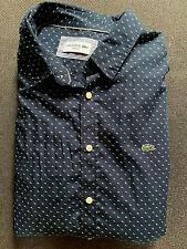 Lacoste Langarm Slim Fit Hemd Gr.43 Blau / Muster - Wie Neu