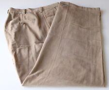 Brooks Brothers Elliot Model Light Brown Flat Front Moleskin Pants Cotton 36W29L