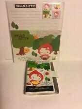 Sanrio Original 2008 Hello Kitty Red Riding Hood Letter Set Card Photo Holder