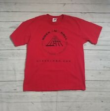 VTG 90s Rock and Roll Hall of Fame Museum Cleveland T Shirt L Red Cronies USA