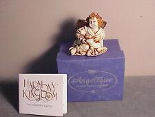 1996 Retired Harmony Kingdom Angelique Box - Joie De Vivre Young Angel W Bunnies