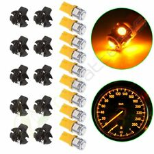 10X Amber Wedge T10 LED W/ Sockets Replacement For Dashboard Cluster Light Lamps