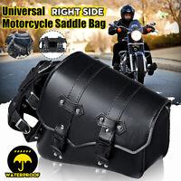 Right Motorcycle Side Saddlebag Pannier Case W/ Fuel Bottle Holder Universal