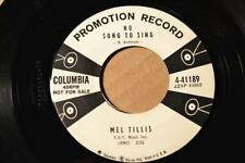 MEL TILLIS Columbia 4-41189 PROMO NO SONG TO SING / THE VIOLET AND A ROSE-LISTEN