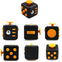 Magic Fidget Cube Toy Anxiety Stress Attention Relief Focus Classic Black Yellow