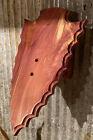 Cedar European Deer Skull Mount Wall / Table Pedestal Plaque Arrowhead