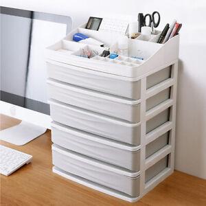 HomeOffice Desk Stationery Pen Holder Drawers Cabinet Unit Storage Box Organiser