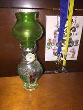 Mini Green Vintage Eagle Burner Lantern Oil Lamp Glass Whale Chimney Rare FS