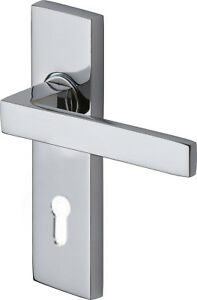 Delta Series Door Lever Entrance Set Chrome Plate or Satin Chrome