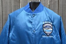 Loveland CO Police Volunteer Satin Coat. Made in the USA. Mens Large.100% Nylon