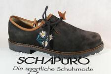 Schapuro Mujer Zapatos para Traje Haferlschuh Abotinado Cuero Negro Nuevo