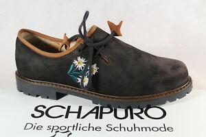 Schapuro Damen Trachtenschuh Haferlschuh Halbschuh Leder schwarz Neu!!