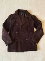 J.Crew Women's Corduroy Double Breasted Peacoat Size Small Brown