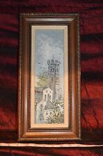 "Mid century impressionist B.N. Owens oil on Wood 15 3/8""x7 3/8"""